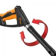 Pistolet avec lance rotative et poignée caoutchout